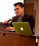 Photo Credit: TRIBUNE PHOTO: PETER WONG - José Antonio Vargas, a Pulitzer Prize-winning journalist from Oregon, told a Willamette University audience that he supported Measure 88, which would allow four-year driver cards - regardless of immigration status - to those who pass knowledge and skills tests.