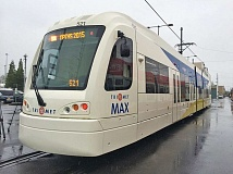 Photo Credit: COURTESY OF TRIMET - Opening the Portland-to-Milwaukie light-rail line on time and withn budget is just one of many challenges still facing TriMet. New Type 5 trains have been ordered for it.