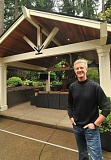 Photo Credit: STAFF PHOTOS: VERN UYETAKE - Jeff Metke of Metke Remodeling and Luxury Homes in Lake Oswego is a big fan of outdoor living spaces. He believes every home should have at least an outdoor fireplace.