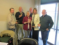 Photo Credit: BARBARA SHERMAN - Members of the King City Civic Association Board of Directors include (from left) Joe Wilson, Paul Downing, Carolyn Griffith, Jim Armour, Bridget Smolen and Denny Gelfand. Armour presented each of them with an award at their Oct. 15 board meeting.