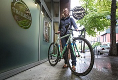 Photo Credit: PAMPLIN MEDIA GROUP: JONATHAN HOUSE - Jenn Levo utilized Trailhead Credit Unions Bike Loan Program to purchase her road bike.