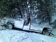 Photo Credit: CONTRIBUTED PHOTO BY OSP - Accident east of Prineville takes mans life.