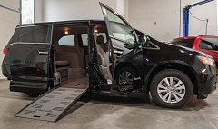 Photo Credit: SPOKESMAN PHOTO: JOSH KULLA - This customized Honda Odyssey minivan was converted for wheelchair use with a Braun Ability mobility kit. This and other similar conversions can cost upward of $20,000, although the company gives veterans a sizable discount.