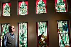 Photo Credit: TIMES PHOTO: JAIME VALDEZ - The Rev. Jim Wallace took over at Calvin Presbyterian Church earlier this year. Its a big move for Calvin, which has been without a head pastor for years.