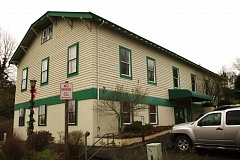 Photo Credit: OUTLOOK PHOTO: TROY WAYRYNEN - The former Troutdale City Hall sits vacant Wednesday, Dec. 10. The city vacated the building two years ago. The top floor was once used as a dance hall.