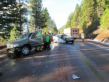 Photo Credit: CONTRIBUTED BY OSP - The head-on crash occured Saturday morning on Highway 20, west of Sisters.