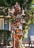 Photo Credit: RITA A. LEONARD - This amusing birdhouse apartment complex stands in front of 7036 S.E. 57th Avenue, in the Brentwood-Darlington neighborhood.