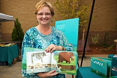 Photo Credit: TIMES PHOTO: JAIME VALDEZ - In September, Ramona Merrill journeyed from Meridian, Idaho to Tualatin for the unveiling of the mastodon sculpture and her book, 'I Wonder...' at Nyberg Rivers.