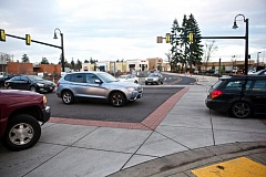 Photo Credit: TIMES PHOTO: JAIME VALDEZ - Southwest Seneca Street is open now and awaiting functional street lights to manage traffic along S.W. Martinazzi Avenue.