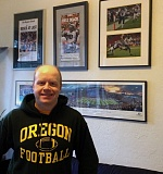 Brian Libby has plenty of Oregon Ducks memorabilia, but finds it hard -- extremely hard -- to watch a game.