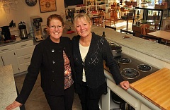 Photo Credit: STAFF PHOTOS: VERN UYETAKE - Sisters Suzanne Buxton, left, and Deborah Ulrich have opened On a Whim Studio. The business offers art and cooking classes plus a place for people to gather.