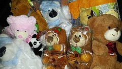 Photo Credit: COURTESY PHOTO - The fourth-grade class at Forest Hills Lutheran School gathered dozens of stuffed teddy bears for delivery to patients at Doernbecher Childrens Hospital in Portland this week.