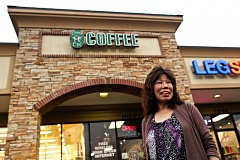 Photo Credit: TIMES PHOTO: JAIME VALDEZ - Kwang 'Yunna' Yuan who has owned her coffee business, Cheer Me Up Coffee, for almost 10 years in Tualatin, has weeks to close her business.