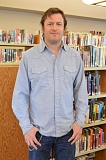 Photo Credit: COURTNEY VAUGHN - Willy Vlautin counts the Scappoose Public Library as one of his favorite stops around town. The author's latest novel, 'The Free' is up for an Oregon Book Award.