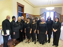 Photo Credit: SUBMITTED PHOTO - The Northwest Freedom Singers performed Monday at a Martin Luther King Jr. Day celebration at Marys Woods.