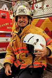 Photo Credit: RAY HUGHEY - Tom O'Connor is going from firefighter to Life Flight medic.