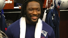 Photo Credit: COURTESY OF NEW ENGLAND PATRIOTS - LeGarrette Blount, former Oregon Ducks running back, has re-emerged as a formidable NFL running back since his return to the New England Patriots.