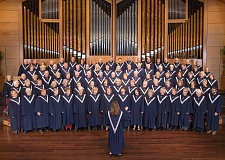 Photo Credit: SUBMITTED PHOTO - The 100-voice Lake Grove Presbyterian Sanctuary Choir will participate in a Hymn Festival at the church on Friday, Feb. 6, lead by celebrated organist David Cherwien.