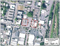 Photo Credit: SUBMITTED PHOTO: CITY OF LAKE OSWEGO - The city's North Anchor proect includes properties on the north side of B Avenue at First Street.