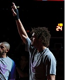 Photo Credit: TRIBUNE PHOTO: JONATHAN HOUSE - Robin Lopez is introduced Tuesday night as the starting center for the Trail Blazers, as he returns after missing 23 games with a broken right hand.