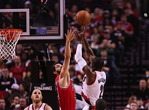 Photo Credit: COURTESY OF DAVID BLAIR - Trail Blazers guard Wesley Matthews launches a 3-point shot.