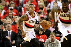 Photo Credit: TRIBUNE FILE PHOTO: JONATHAN HOUSE - Trail Blazers' guard Damian Lillard joins teammate LaMarcus Aldridge on the NBA West All Star team after being added to the lineup.