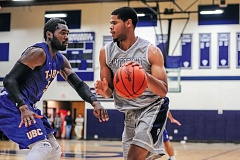 Photo Credit: COURTESY OF CONCORDIA UNIVERSITY - Esvan Middleton (right), 6-7, gives the Concordia Cavaliers a strong rebounder who can be part of the scoring mix, as well.