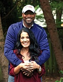 Photo Credit: TRIBUNE FILE PHOTO: JAIME VALDEZ - Jerome Kersey, with wife Teri.