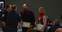 Photo Credit: WASHINGTON COUNTY FIRE DISRICT - Nathan and Laurie Van Roekel were honored for their quick actions on Feb. 10.