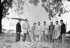 Photo Credit: SUBMITTED PHOTO - Elsie Stuhr (third from left) helps break ground during the 1950s for the Beaverton Swim Center, the first facility built in the Tualatin Hills Park & Recreation District, which now is celebrating its 60th anniversary in 2015.