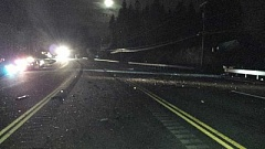 CONTRIBUTED PHOTO: OREGON STATE POLICE - Debris was spread across Highway 26 following an early morning fatal traffic crash that occured near milepost 33.