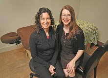 STAFF PHOTO: VERN UYETAKE  - Acupuncturists Stacy Spence, left, and Michelle Beeson are now providing services at Trainers Club in Lake Oswego.