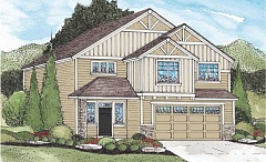 SUBMITTED GRAPHIC - Here's an architect's rendering of what the four-bedroom, three-bathroom model at Old Town Estates will look like.