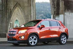 TRIBUNE PHOTO JOHN M. VINCENT - The 2015 Chevrolet Trax features an upright stance with matte black accents on the lower edge and around the windows. It's the smallest of Chevy's crossovers.