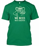 CONTRIBUTED PHOTO - Protesters of cutting the music accompanist position plan to wear these shirts to the Estacada School Board meeting on April 15.