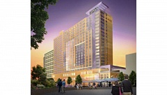 COURTESY METRO - Artists rendering of the Headquarts Hotel that Metro want build across the street from the Oregon Convention Center.