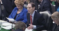 SUBMITTED IMAGE - U.S. Sen. Ron Wyden talks about the need for Secure Rural Schools funding for counties in Oregon and across the country during a Senate budget meeting.