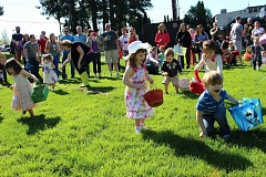 SUBMITTED PHOTO - Children will once again enjoy an egg hunt at the Garden Home Recreation Center this Saturday, one of several activities planned in the area during Easter weekend.