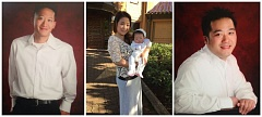 COURTESY OF THE PHAM FAMILY - These photos show Andrew Pham (left), Susie Pham (holding infant daughter) and Gary Pham. Susie and Gary were killed in an April 10 shooting on Southeast Division Street.