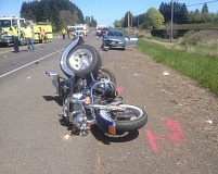 WASHINGTON COUNTY SHERIFF'S OFFICE -  Charlene Marvin died after her motorcycle was struck by a car Saturday.