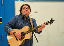 NEWS-TIMES PHOTOS: KATHY FULLER - Storyteller Sam Payne performed for Echo Shaw Elementary School students.
