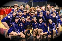 SUBMITTED PHOTO - This year's Arrows Dance Team came in third in their division during state competition in March. The dancers received recognition for their performance of their routine 'Shattered.'