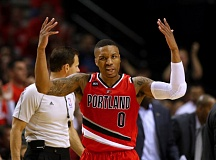 TRIBUNE PHOTO: JONATHAN HOUSE - Damian Lillard and the Trail Blazers came up short in Game 3 Saturday night at Moda Center and need to win Monday to stay alive in their NBA playoff series with the Memphis Grizzlies.