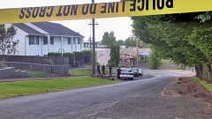 KOIN 6 NEWS - Police on the scene of a fatal shooting in North Portland on Saturday.