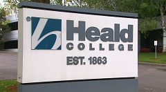 COURTESY OF KOIN 6 NEWS - Portland's Heald College campus on Northeast 78th Court closed Monday as part of the national shutdown of Corinthian Colleges Inc. schools.