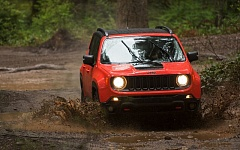 TRIBUNE PHOTO JOHN M. VINCENT - The all new Jeep Renegade equipped with the off-road Trailhawk package was name 2015 NW Outdoor Activity Vehicle of the Year.