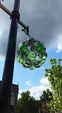 SUBMITTED PHOTO - Several new glass sculptures are being installed this week along Southwest Main Street.