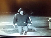 MOLALLA BOWL  - One of the suspects caught by a surveillance camera during an attempted break-in at Molalla Bowl early Wednesday morning.