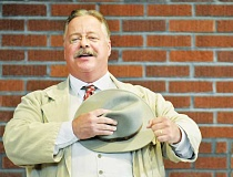GARY ALLEN - Facsimile - Actor Joe Wiegand travels the country and gets in character as Teddy Roosevelt for an impressive number of performances each year, including one at the Chehalem Cultural Center last week. With his appearance, speaking style and schedule, Wiegand is keeping things as Rooseveltian as he can.