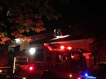 SUBMITTED PHOTO - Tualatin Valley Fire & Rescue got on top of a nighttime fire at Beaverton's Extended Stay America hotel.